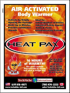 HEAT PAX™ Body Warmers