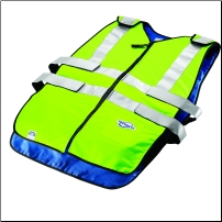 TechKewl Phase Change ANSI CL II Hi Viz Cooling Vest