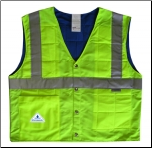 Evaporative Cooling Traffic Safety Vests